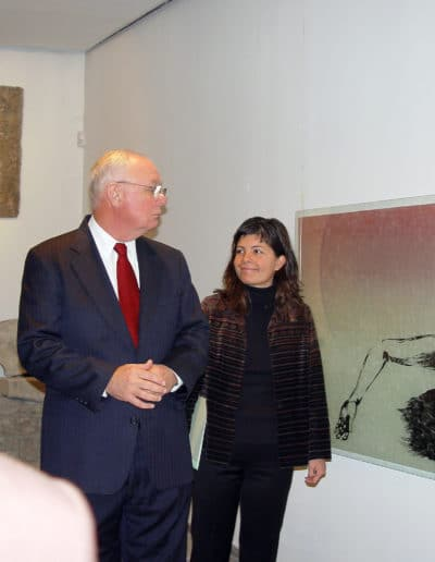 The American ambassador to Bulgaria visiting my exhibit in Provdiv