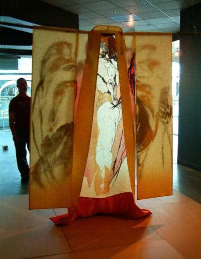 Kimono Wings exhibited at Place Gallery in Pioneer Place, Portland