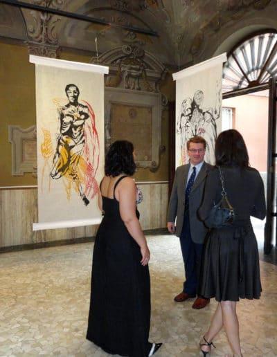Reception at Art'emelia Gallery in Parma, Italy